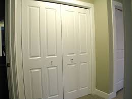 double closet doors white