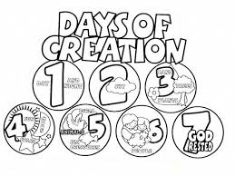 Days Of Creation Coloring Pages Free