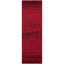 adirondack red black 3 ft x 10 ft runner rug