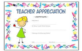 Teacher Appreciation Certificate Wording Template Strand And