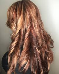 Blonde And Red Highlights Copper Lowlights