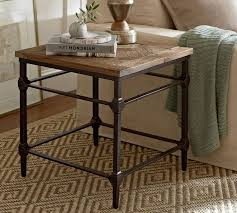 parquet 23 5 reclaimed wood end table
