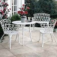 white wrought iron garden furniture. white sweetheart wroughtiron patio set wrought iron garden furniture s