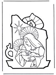 Maria En Jezus Bijbelkleurplaten Kerst