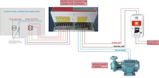 v single phase motor wiring diagram wiring diagram schematics ppc multimotor control model water level controller installation