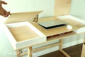 diy desk top desktop with storage compartments build your own desk collection diy desktop calendar stand