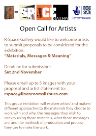 How To Call Out Of Work Extraordinary Open Call For Artists RSpace Gallery