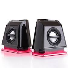 dell computer speakers with subwoofer. gogroove basspulse 2mx 2.0 usb multimedia computer speakers with red led lights , dual drivers \u0026 passive subwoofer - works pc apple mac dell more m