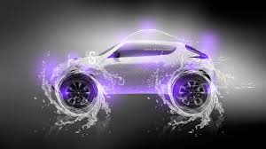 nissan juke water neon car