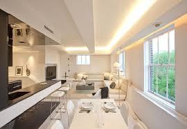 white elegant living room in modern apartment interior mood lighting bedroom mood lighting design