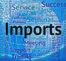 Imports Business Imports Word Represents Buy Abroad And Business Free Stock