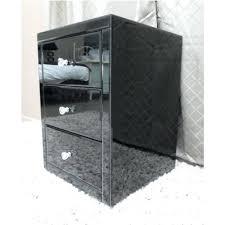 black glass nightstand chic black glass nightstand black glass mirrored bedside table chest nightstand black metal