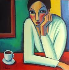 Resultado de imagen para mujer tomando cafe