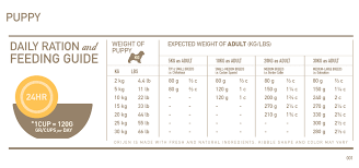 Orijen Puppy Feeding Chart Orijen Puppy Dry Dog Food For Puppies