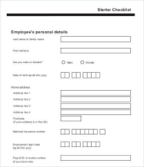 New Employee Template Form 12 New Employee Checklist Template Free