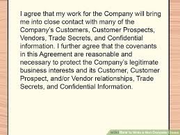 Noncompete Clause How To Write A Non Compete Clause 11 Steps With Pictures
