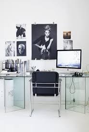 modern office space home design photos. Clean And Modern Office Space With Photos Hanging Above Glass Desk Minimalist Home Design