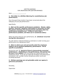 Employee Performance Letter Sample 9 Work Warning Letter Template Free Samples Examples