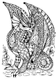 Awesome Printable Coloring Pages Of Dragons Cute Baby Dragon 7 Free