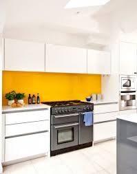 glass splashback colours for white kitchen