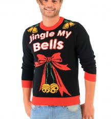Jingle My Bells Hanging Decoration Ugly Christmas Sweater Men\u0027s Sweaters | for Real Men
