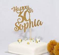 Personalised Name And Age Birthday Cake Topper Happy Birthday Cake