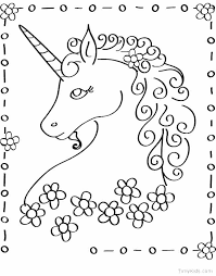 Unicorns Coloring Pages Printable Unicorn Coloring Pages Pdf