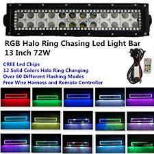 amazon com night break light 13 5 inch 72w cree led light bar night break light 13 5 inch 72w cree led light bar remote controller rgb halo ring 12