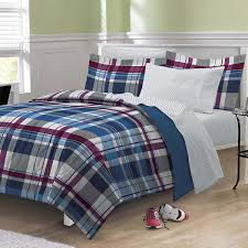amazoncom my room varsity plaid ultra soft microfiber comforter
