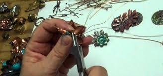 how to make wire wrapped flower brooches and jewelry jewelry rh jewelry crafts wonderhowto com wire wrapped chandelier earrings wire wrapped chandelier