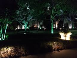 tree uplighting entry lights and exterior lighting installed by dallas landscape lighting
