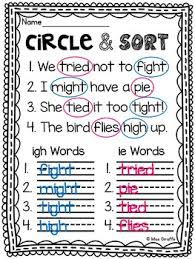 Write the letters in the spaces, learn the sound and. Igh And Ie Worksheets Activities No Prep Long I And E Vowel Teams Pairs
