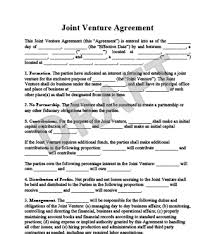 Sample Joint Venture Agreements