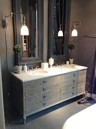 restoration hardware bathroom vanity. maison double vanity sink with italian cararra marble, antique grey from restoration hardware bathroom