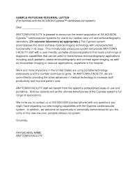 Sample Cover Letter For Physician The Letter Sample
