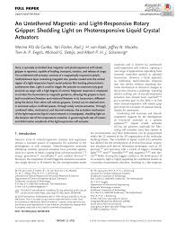 (PDF) An Untethered Magnetic- and Light-Responsive <b>Rotary</b> ...