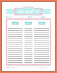 Potluck Sign Up 15 Potluck Sign Up Sheets Templates Lettering Site