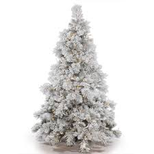 Vickerman Pre Lit 9 Flocked Alberta Artificial Christmas Tree With Cone Led Warm White Lights