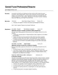 Resume Professional Summary Student Resume Template