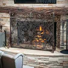 iron fireplace screens. Attractive Iron Fireplace Screens With Rustic Screen Flat