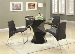 round glass top counter height set by coaster 120808 larger photo