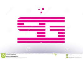 Sg Template Sg S G Pink Purple Line Stripe Alphabet Letter Logo Vector Template