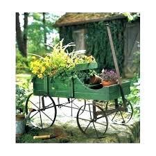 decorative garden wagon planter green wooden yard outdoor decor wheels wood for wagon wheels garden decor wheel old outdoor wooden decoration