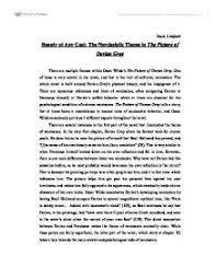 essay about the picture of dorian gray sparknotes the picture of dorian gray study questions essay