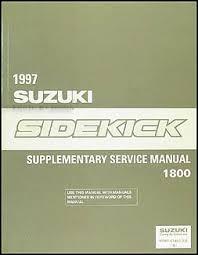 suzuki sidekick and sport x wiring diagram manual 1997 suzuki sidekick sport 1800 repair shop manual supplement original