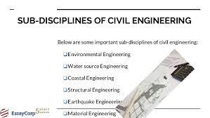 civil engineering assignment help 4 sub disciplines of civil engineering