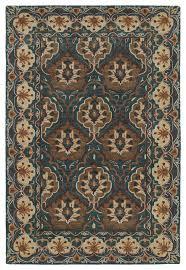kaleen hand tufted middleton teal wool rug mediterranean area rugs by kaleen rugs
