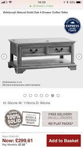 oak furniture land edinburgh coffee table
