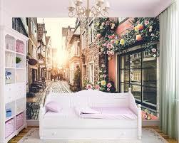 Custom Mural Foto 3d Behang Europese Stad Dorp Home Decor Schilderij