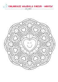Coloriage Mandala Coeur Moyen Momes Net